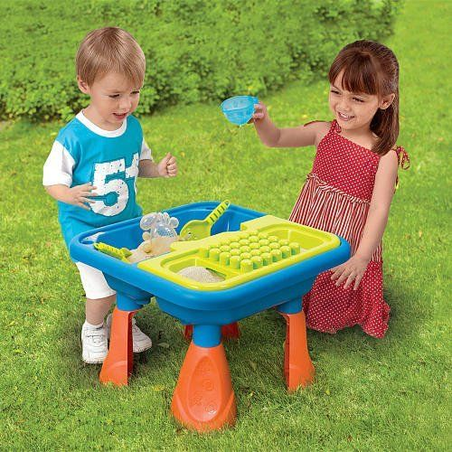 Toys R Us Educational Products - Sizzlin' Cool Sand and Water Table - Let your kids have fun exploring with our Sizzlin' Cool Sand and Water Table . $99.99. The Sizzlin' Cool Sand and Water Table also includes a scoop, shovel, rake and crab.. Let your kids have fun exploring with our Sizzlin' Cool Sand and Water Table. The sand and water table is easy to assemble and requires no tools.. The Sizzlin' Cool Sand and Water Table features 1 sand table that comes with a sturdy ...