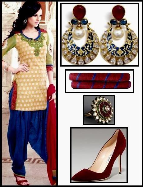Punjabi suit in Blut salwar