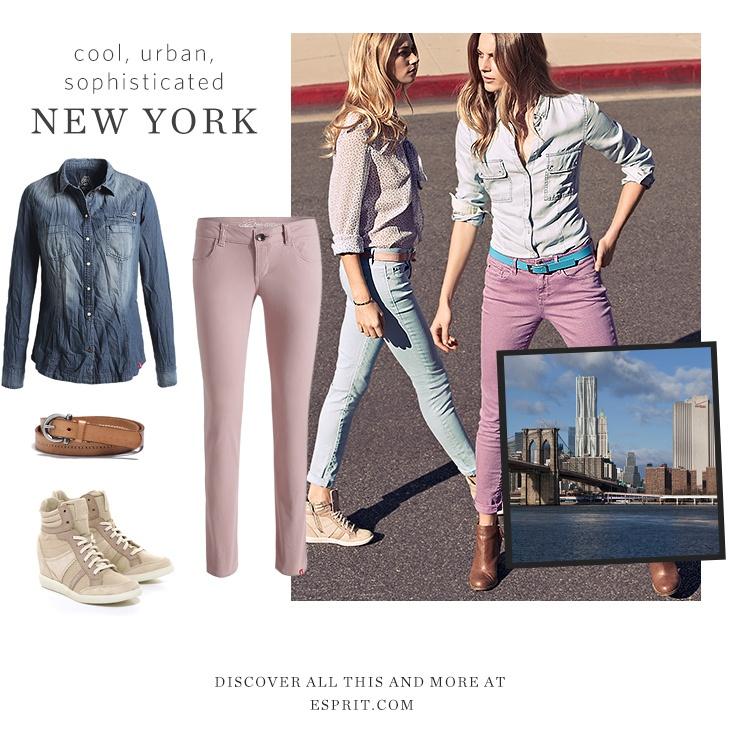 pastel coloured jeans!