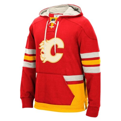 NHL Calgary Flames CCM Pullover Hoodie - Red