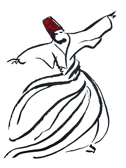 """""""enchanting sufi - Whirling Dervishes """" by Adam Asar   Redbubble"""