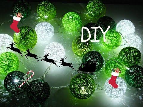 Idą Święta #pomysł na prezent DIY / Cottonballs lights - YouTube