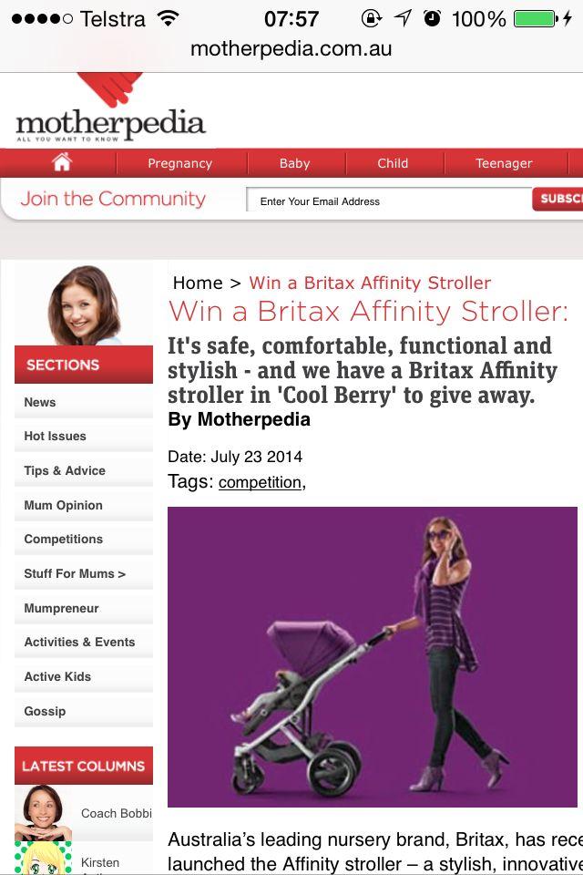 Motherpedia win a britax pram competition