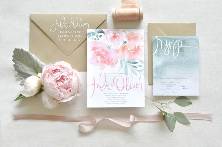 wedding stationery from Julie Song Ink! http://www.stylemepretty.com/2014/07/03/win-wedding-stationery-from-julie-song-ink/