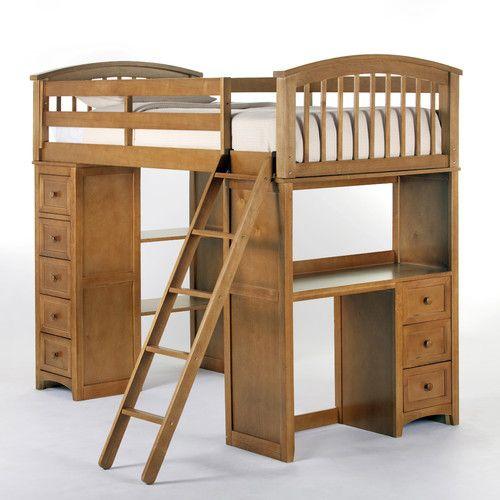 found it at wayfair school house student loft bed twin bed framestwin - Loft Twin Bed Frame