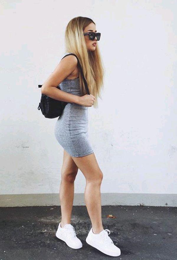 Resultado de imagen para vestidos con zapatillas
