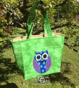 I loved making this wonderful bag with the owl template. Isn't it cute! Template from Carol's Quilts