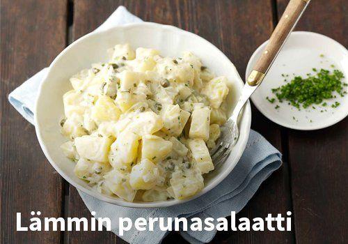 Lämmin perunasalaatti, Resepti: Valio #kauppahalli24 #vappu #perunasalaatti #resepti #vappuruoka