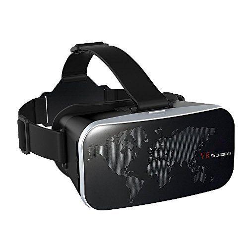 VTIN 3D VR Lunettes Réalité Virtuelle Casque VR pour 3D Jeux Vidéo Compatible avec iPhone 7 7 Plus, Android Smartphone (Ecran entre 4…