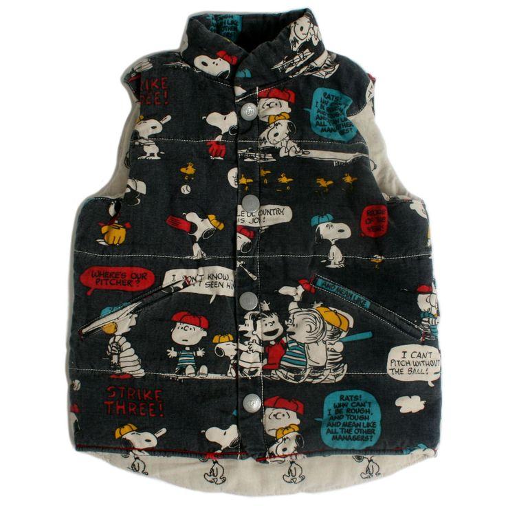 Boofoowoo × PEANUTS vest #boofoowoo #peanuts #snoopy