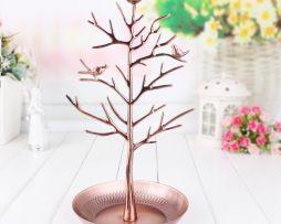 Luxusný stojan na šperky v tvare kovového strom