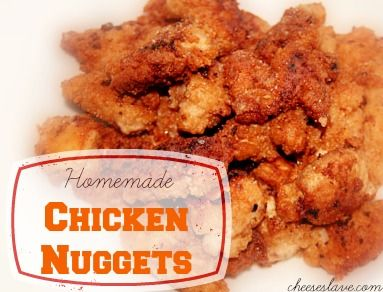 Chicken nuggets, Homemade chicken nuggets and Chicken on Pinterest