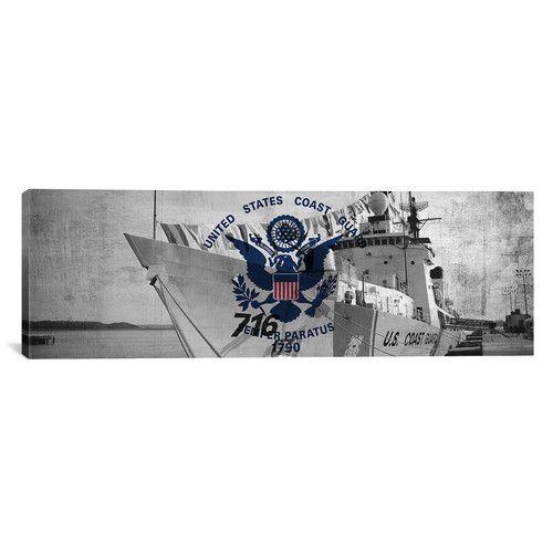 Found it at Wayfair - Coast Guard Flag, Coast Guard Cutter Dallas Panoramic Graphic Art on Canvas