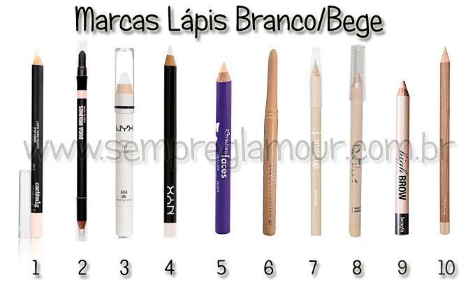 Lápis de olho branco