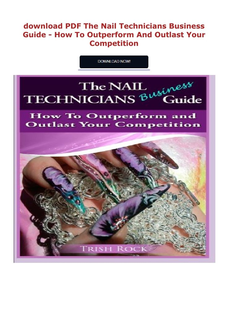 PDF download The Nail Technicians Business Guide How To