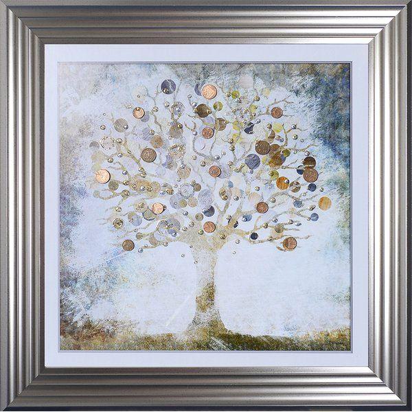 You Ll Love The Copper Money Tree Framed Graphic Art Print At Wayfair Co Uk Great Deals On All Home D E Kids Art Wall Frames Online Wall Art Frames On Wall