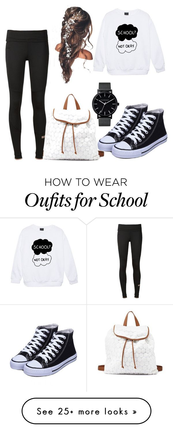 """#School #NotOkay"" by teaafashion on Polyvore featuring Charlotte Russe, adidas and The Horse"