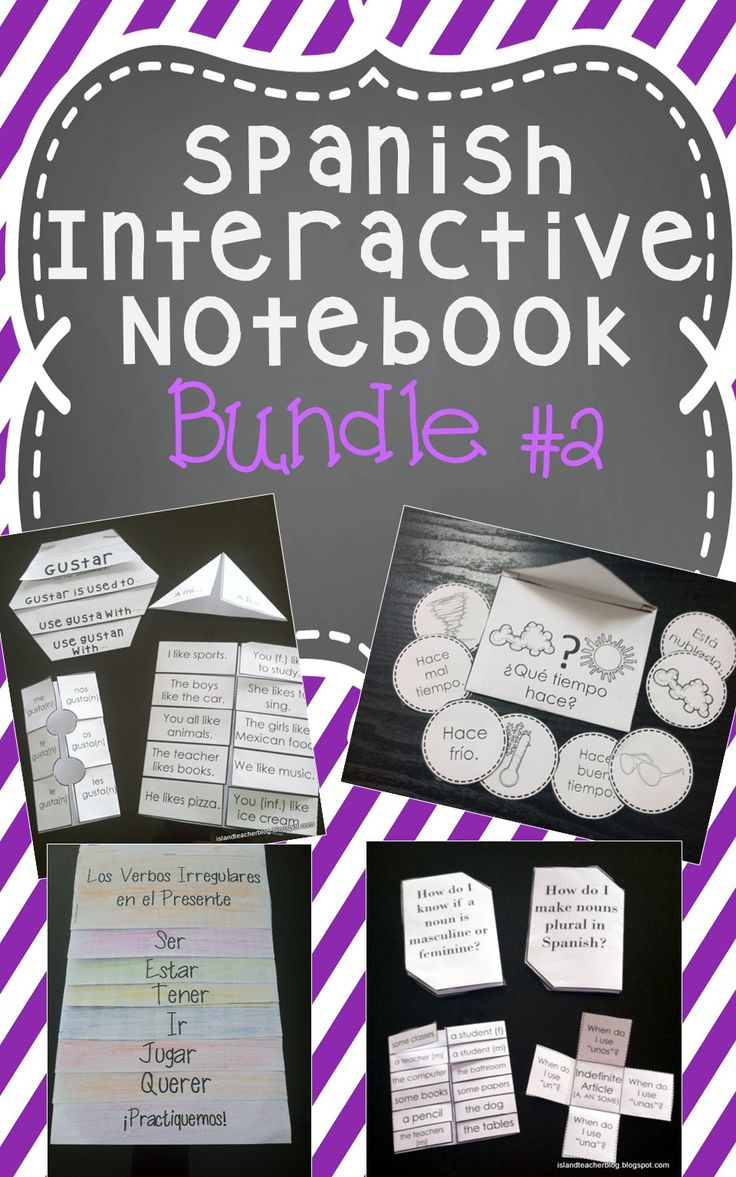 Classroom Notebook Ideas ~ Best ideas about spanish interactive notebook on