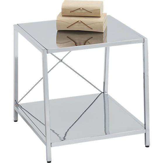 Best Harvey Chrome Nightstand Cb2 Modern Side Table 400 x 300