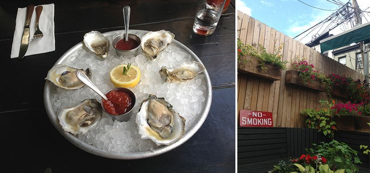 In the mood for oysters on a beautiful patio this summer? Check out Walter Foods in Williamsburg, Brooklyn! #oysters #patio #brunch #williamsburg #brooklyn