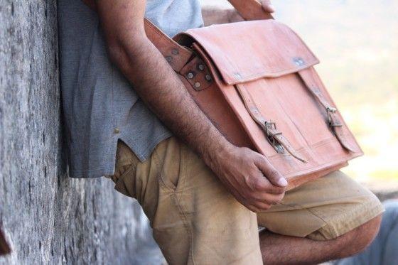 Shopo.in : Buy Leather Laptop/ Office Bag. Shoulder Bag online at best price in Udaipur, India