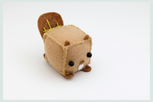plushies made from little cubes...too cute