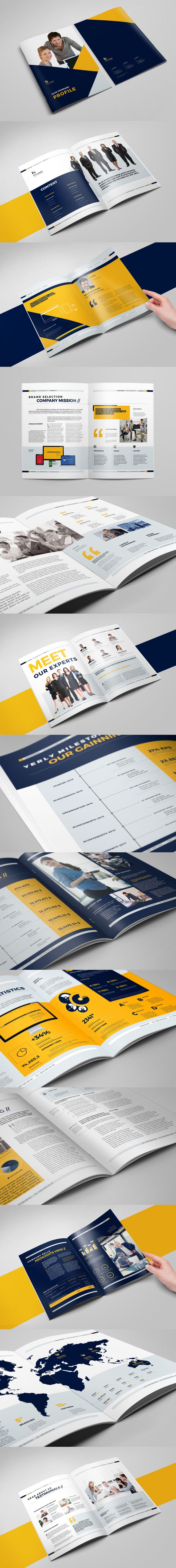 Business Brochure Template InDesign INDD - 24 Pages, A4 and US Letter Size