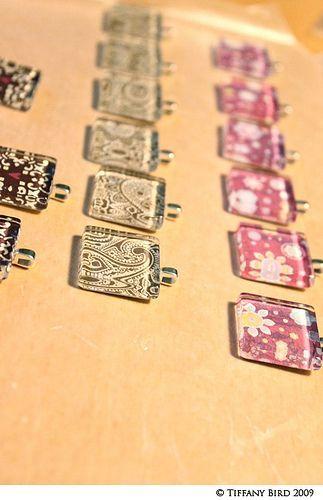 DIY Glass pendant necklaces