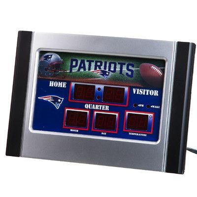 Team Sports America NFL Scoreboard Desk Clock NFL Team: New England Patriots