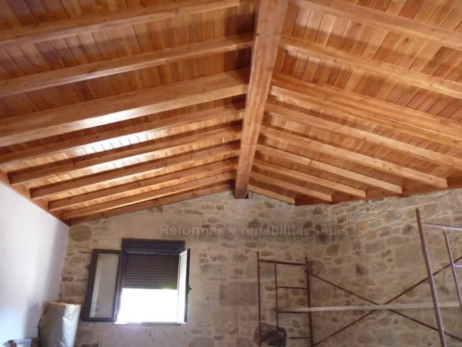 20 mejores im genes sobre tejados cubiertas y aleros de for Tejados de madera vizcaya