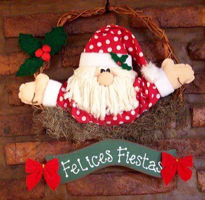 Manualidades+De+Navidad | Cómo hacer una hermosa rosca para la puerta