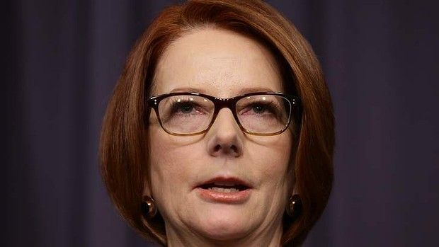Julia Gillard addresses the media after losing the Labor leadership ballot.