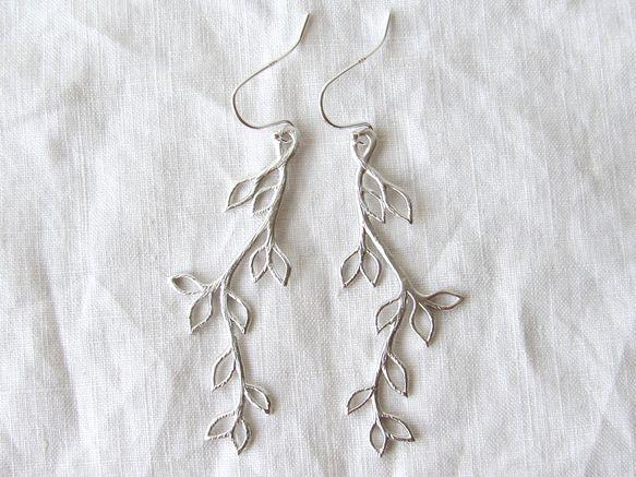 月桂樹のピアス シルバー