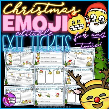 A fun set of printable Christmas / Winter themed emoji exit tickets that enable students to reflect on their learning in a fun and modern way - ideal if you want to get cosy and festive in your classroom this season!We are living in an emoji generation where emoticons have actually become a language used worldwide, especially by young people.