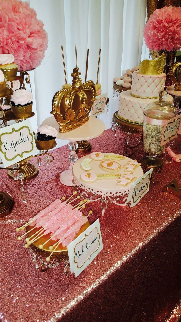 Pink u0026 Gold Dessert Table Ideas   Opulent Treasures Cake stands Cupcake stands u0026 Dessert & The 12 best Cake Stand Decor u0026 Ideas images on Pinterest   Cake ...