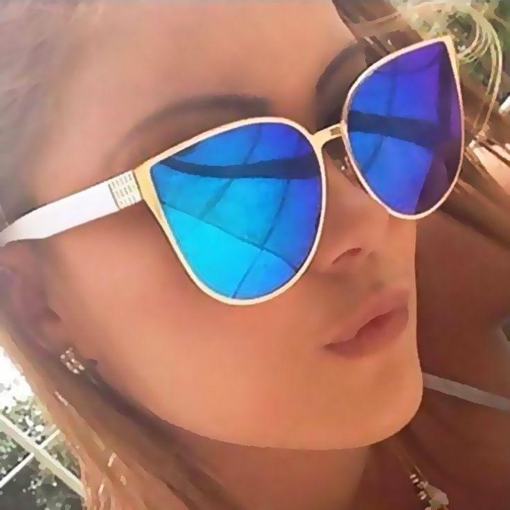 New Oversize Katzenaugen Sonnenbrille 2017