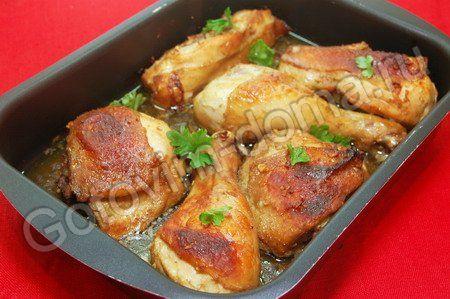 Курица, маринованная в горчице и соевом соусе