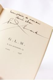 BRETON : Notes sur la poésie - Autographe, Edition Originale - Edition-Originale.com