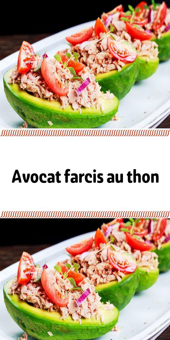 Avocat farcis au thon | Recettes de cuisine, Avocat farci