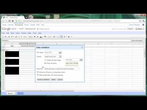 how to create drop down menu in excel spreadsheet