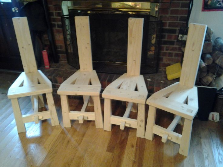 A Set Of Irish Tuam Chairs They Peg Together Using Tusk