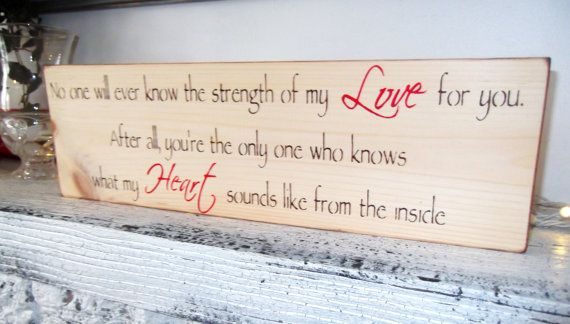 """Rustic Baby Nursery, Woodland baby nursery theme, Country Nursery, Baby shower gift boy girl """"Strength of my Love"""" quote sign, new baby on Etsy, $29.00"""