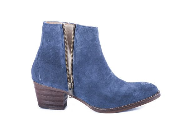 Rafaela Boot, Blue - sky blue denim. ankle boot zip up suede 7 day 20% discount online at www.elizabaker.co... with this code Nov13 ENDS 21st November 2013 EB x