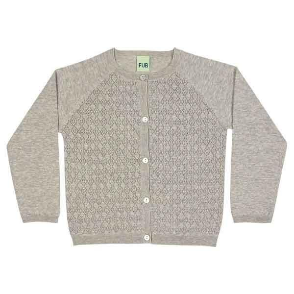 FUB Cardigan Light Grey