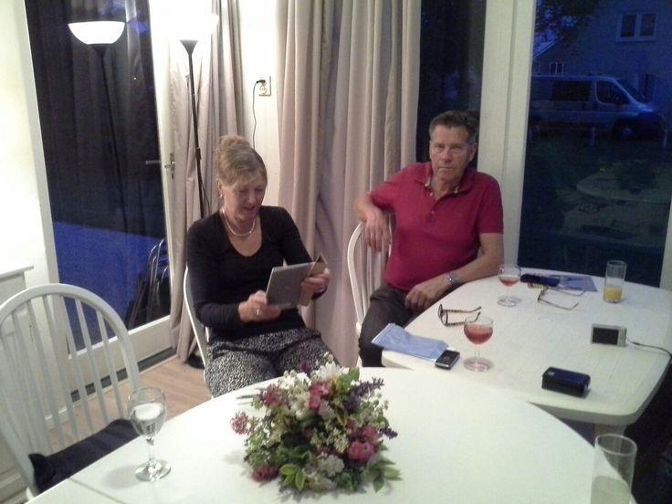 Cadzand Bad schildervakantie Aqurelgroep 2016. Docent: Trix en haar echtgenoot Hugo Develing voor alle ondersteunende werkzaamheden
