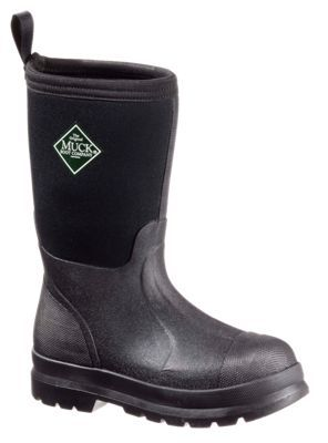 The Original Muck Boot Company Kids' Chore Boot Waterproof Boots for Toddlers, Kids, or Ladies - Black/Black -