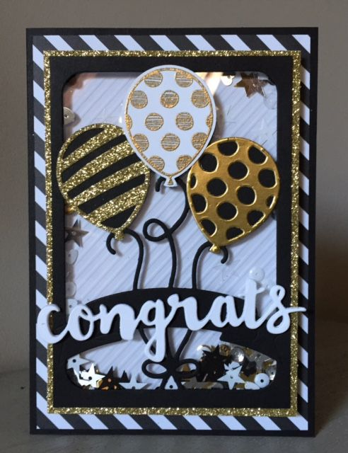 Stampin Up, Balloon Adventures, Balloon pop-up Thinlits dies, Metallic Sequin, Sunshine Wishes Thinlits, SU Spring/summer 2017