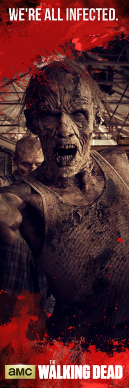 The Walking Dead Zombies Door Poster