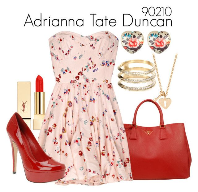 Adrianna Tate Duncan 90210 by sparkle1277 on Polyvore featuring polyvore, fashion, style, Rebecca Taylor, ALDO, Prada, Full Tilt, Ileana Makri, Minor Obsessions, PUR and clothing
