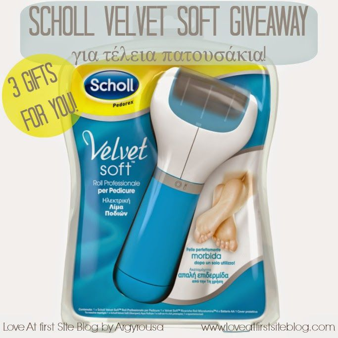 Love At First Site: Review and Giveaway. Scholl Velvet Soft, a summer essential.